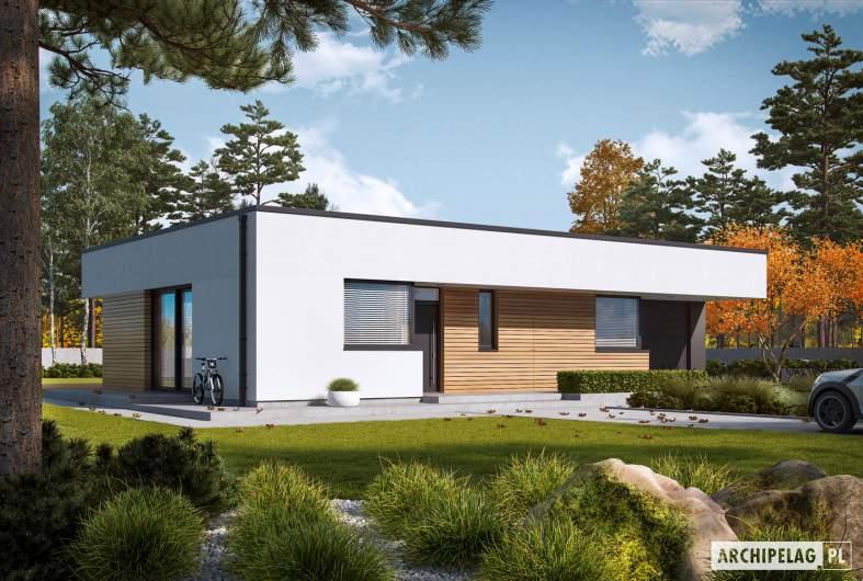 Projekt domu Mini 1 G1 MODERN PLUS - wizualizacja frontowa