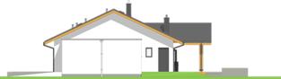 Projekt domu Mini 4 w. II G1 - elewacja prawa