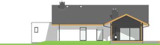 Projekt domu Mini 4 w. II G1 - elewacja tylna