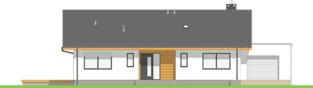Projekt domu Mini 4 w. II G1 - elewacja frontowa