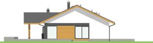 Projekt domu Mini 4 w. II G1 - elewacja lewa