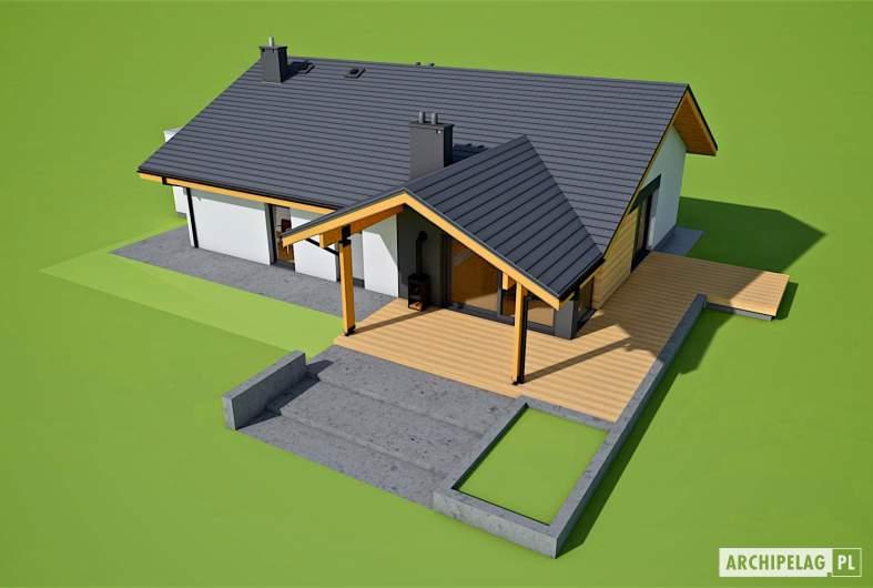 Projekt domu Mini 4 w. II G1 - widok z góry