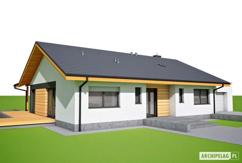 Projekt domu Mini 4 w. II G1 - wizualizacja frontowa