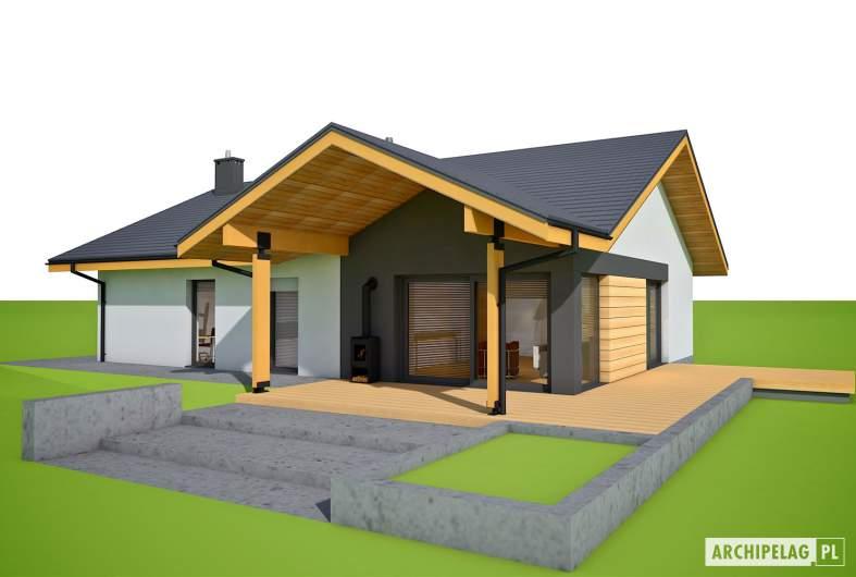 Projekt domu Mini 4 w. II G1 - wizualizacja ogrodowa