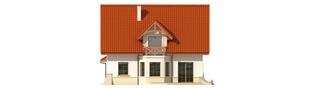 Projekt domu Wiolka G1 - elewacja tylna