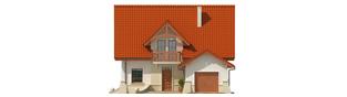 Projekt domu Wiolka G1 - elewacja frontowa