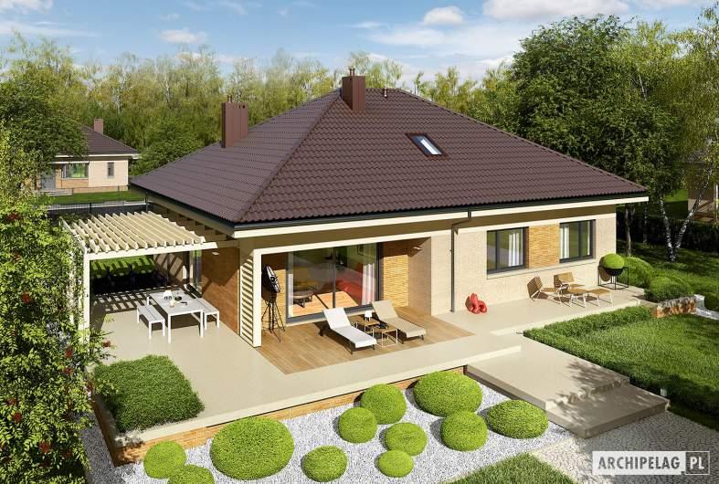 Projekt domu Flo III - widok z góry