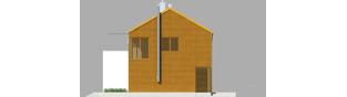 Projekt domu EX 1 soft - elewacja prawa