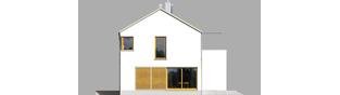 Projekt domu EX 1 soft - elewacja lewa