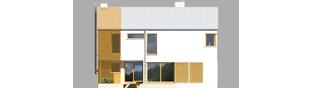 Projekt domu EX 1 soft - elewacja tylna