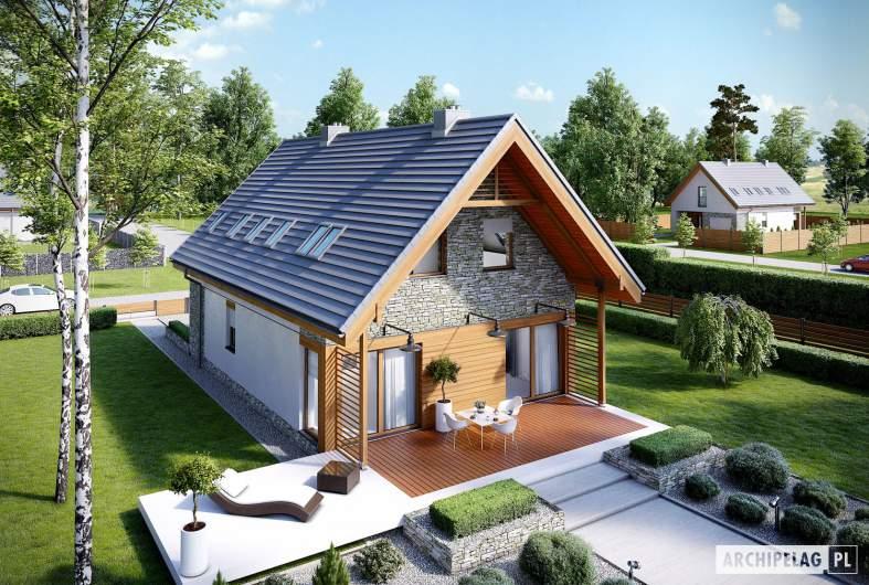 Projekt domu Elias G1 - widok z góry