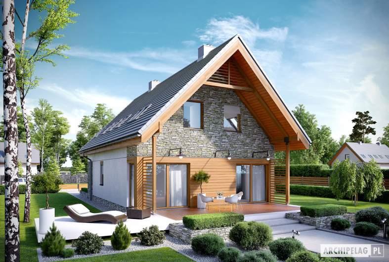 Projekt domu Elias G1 - wizualizacja ogrodowa