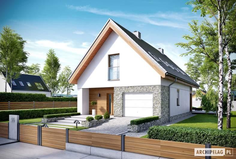 Projekt domu Elias G1 - wizualizacja frontowa