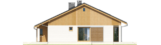 Projekt domu Rafael G1 - elewacja lewa