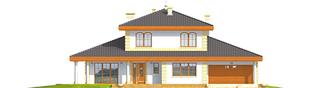Projekt domu Eleonora G2 - elewacja frontowa