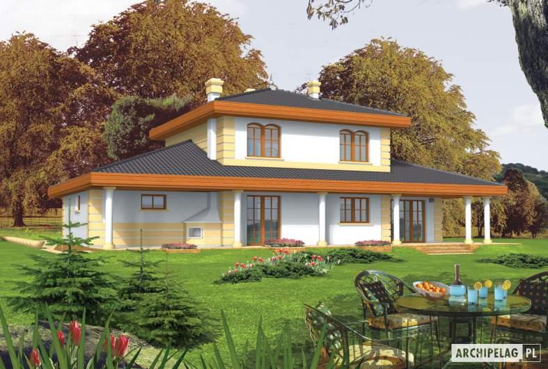 Projekt domu Eleonora G2 - wizualizacja ogrodowa