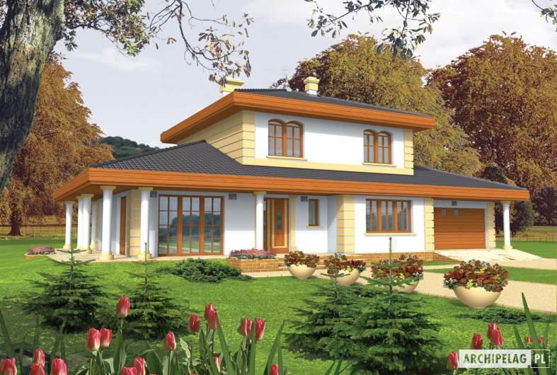 Projekt domu Eleonora G2 - wizualizacja frontowa