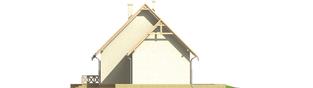 Projekt domu Śnieżynka II G2 - elewacja prawa