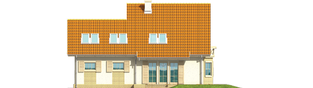 Projekt domu Śnieżynka II G2 - elewacja tylna