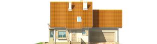 Projekt domu Śnieżynka II G2 - elewacja frontowa