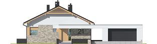 Projekt domu Daniel G2  - elewacja frontowa