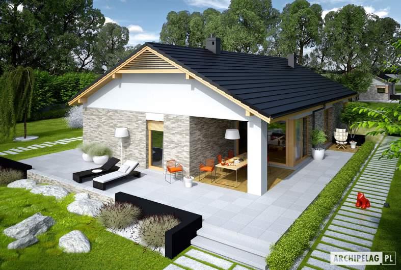 Projekt domu Daniel G2 - widok z góry