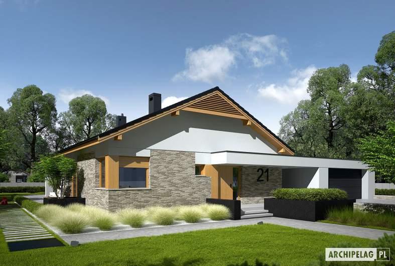 Projekt domu Daniel G2 - wizualizacja frontowa