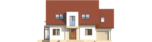 Projekt domu Edi II G1 - elewacja frontowa