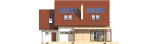 Projekt domu Edi II G1 - elewacja tylna