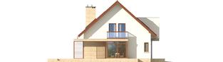 Projekt domu Edi II G1 - elewacja lewa
