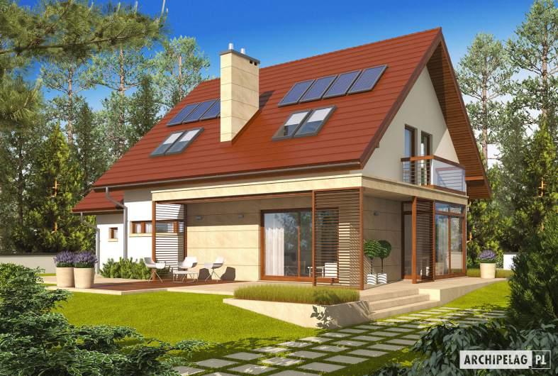 Projekt domu Edi II G1 - wizualizacja ogrodowa