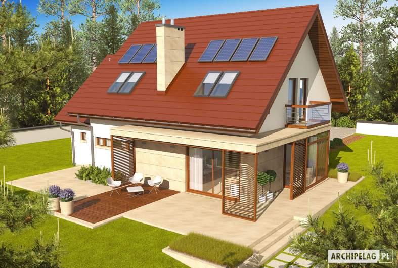 Projekt domu Edi II G1 - widok z góry