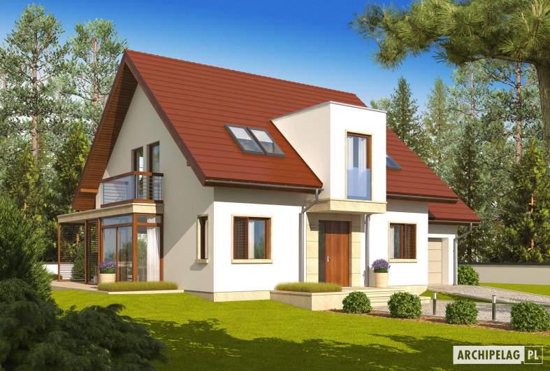 Projekt domu Edi II G1 - wizualizacja frontowa