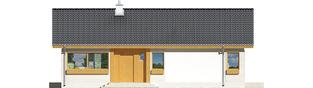 Projekt domu Eryk ENERGO PLUS - elewacja frontowa