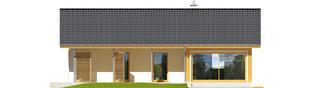 Projekt domu Eryk ENERGO PLUS - elewacja tylna
