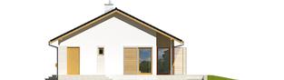 Projekt domu Eryk ENERGO PLUS - elewacja prawa