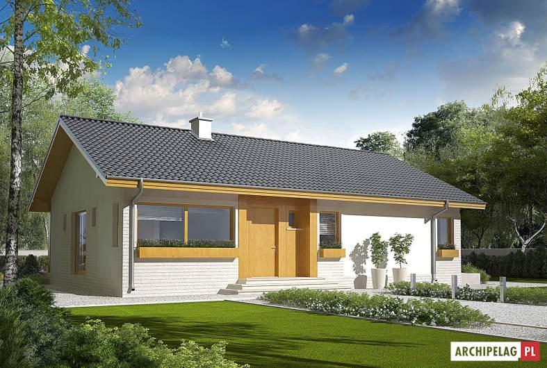 Projekt domu Eryk ENERGO PLUS - wizualizacja frontowa
