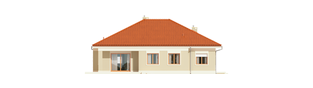 Projekt domu Eris G2 (wersja B) - elewacja tylna