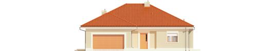 Eris G2 B - Projekt domu Eris G2 (wersja B) - elewacja frontowa