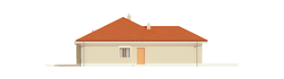Projekt domu Eris G2 (wersja B) - elewacja lewa