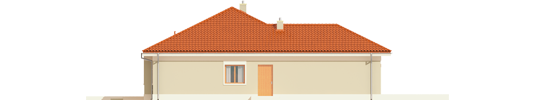 Eris G2 B - Projekt domu Eris G2 (wersja B) - elewacja lewa