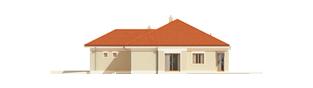 Projekt domu Eris G2 (wersja B) - elewacja prawa