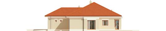 Eris G2 B - Projekt domu Eris G2 (wersja B) - elewacja prawa