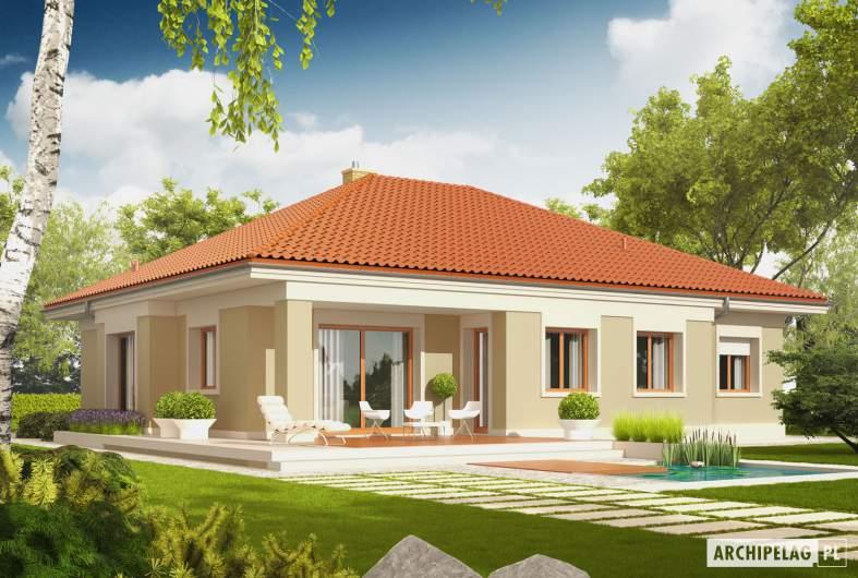 Projekt domu Eris G2 (wersja B) - wizualizacja ogrodowa