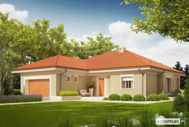 Projekt domu Eris G2 (wersja B) - wizualizacja frontowa