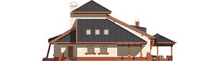 Projekt domu Kazimierz - elewacja prawa