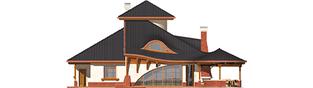 Projekt domu Kazimierz - elewacja tylna