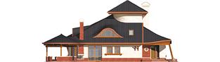 Projekt domu Kazimierz - elewacja lewa