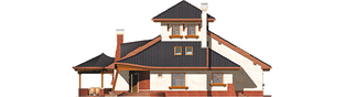 Projekt domu Kazimierz - elewacja frontowa