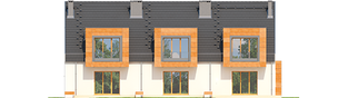 Projekt domu Sansa - elewacja tylna